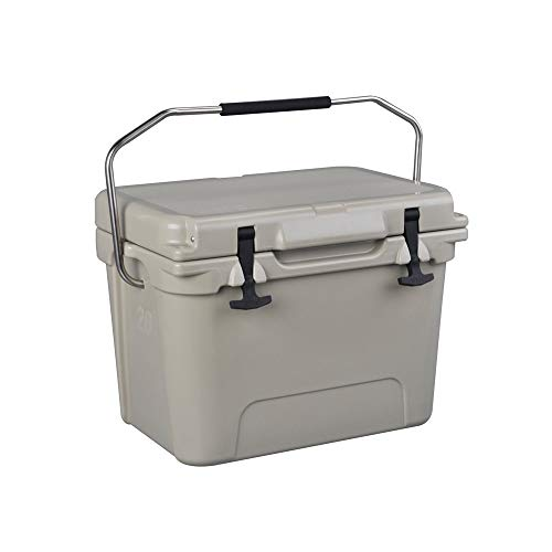 Canness-Home Kühler - Harter Kühler hält Getränke eiskalt Perfekter Kühler zum Angeln Jagd und Camping Kühlbox (Farbe : Grau, Größe : 37 * 26 * 27cm)