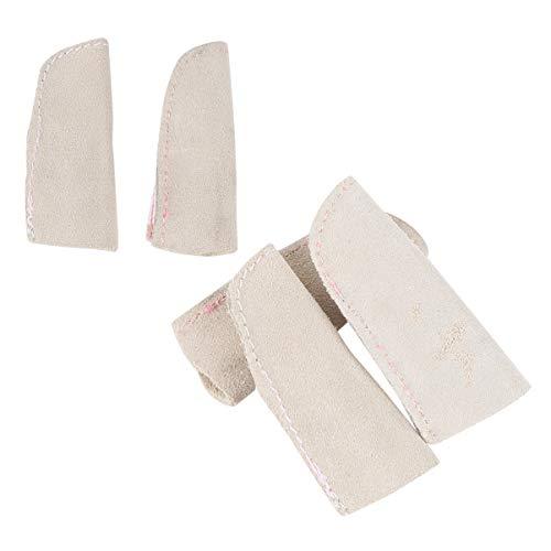 ULTECHNOVO 5Pcs Leder Fingerlinge Wache Deckt Wärmedämmung für Elektronische Reparatur Malerei Schmuck Reinigung Handwerk Industriell
