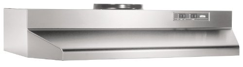 Broan 423004 ADA Capable Under-Cabinet Range Hood, 190 CFM 30-Inch, Stainless Steel