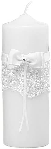 Beverly Fees free!! Weekly update Clark French Lace Candle White Unity