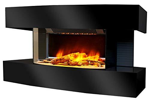 Chemin'Arte 184 Lounge Medium Elektrischer Kamin, schwarz, 82 x 21 x 42 cm
