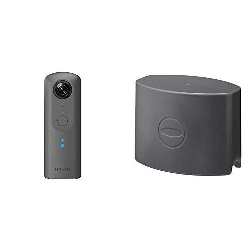 RICOH THETA V 360度カメラ 全天球 910725 メタリックグレー+RICOH レンズキャップ TL-1 リコー THETA用 910763