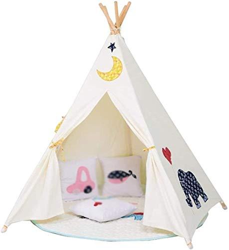 YWAWJ Kids Toy Tent Decoration Tenda Coperta pentagonale Tenda Antiscivolo Solid Camera del Gioco Castello Giocattolo di Legno della Tenda del Ricamo del Modello 110 * 110 150cm *