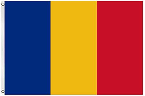 Blackshirt Company Rumänien Fahne Rumänische National Länder Flagge mit Ösen 150 x 90 cm Farbe Mehrfarbig
