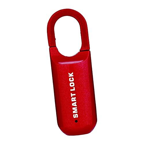 Fenteer M01 candado de huella dactilar con biométrico sin llave para gimnasio deportes empleados casillero equipaje No Bluetooth - Rojo