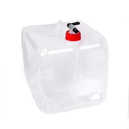 Bidón de agua portátil plegable de 10 litros con piña, jarra de almacenamiento de agua para camping, para exteriores, mochila de senderismo y equipo de supervivencia, plegable, borde de agua FDA portátil, 1,3/2,6/5,3 litros