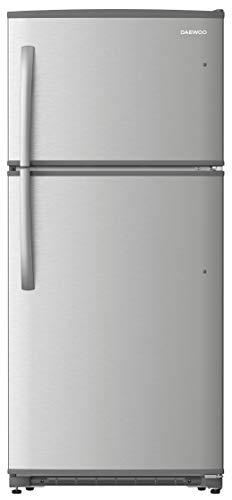 Daewoo RTE21GSSMD Top Mount Refrigerator, 21 Cu.Ft, Stainless Steel