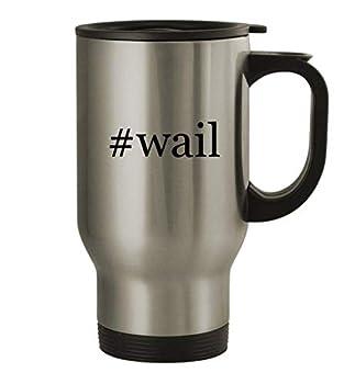 #wail - 14oz Stainless Steel Travel Mug Silver