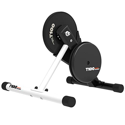 Magene T100 Direct Drive Bike Turbo Trainer  Stationary Indoor Riding Stand  Portable Design is Quiet for Indoor Use  Passes Power Info to Cycling Apps  ANT amp Bluetooth Compatible