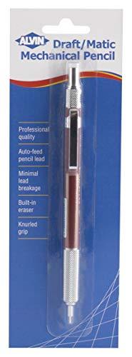 Alvin, Draft-Matic, Mechanical Pencil, Stainless Steel Lead, Blister Carded - 9 Millimeter
