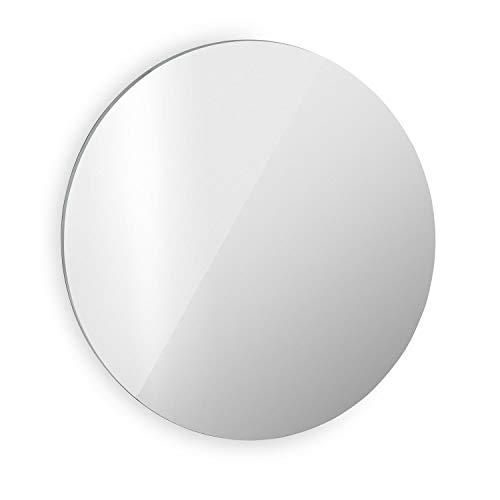 Klarstein Marvel Mirror Infrarotheizung Elektroheizung Heizstrahler, Spiegeloberfläche, Durchmesser: ca. 85 cm, 300 Watt, Wandinstallation, automatische Abschaltfunktion, rund
