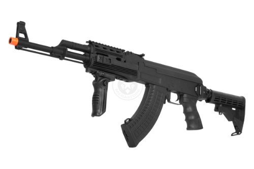 410 fps cyma full metal gearbox ak47 caw tactical ris aeg w/ integrated rail system and le retractable rear stock - new enhanced model(Airsoft Gun)
