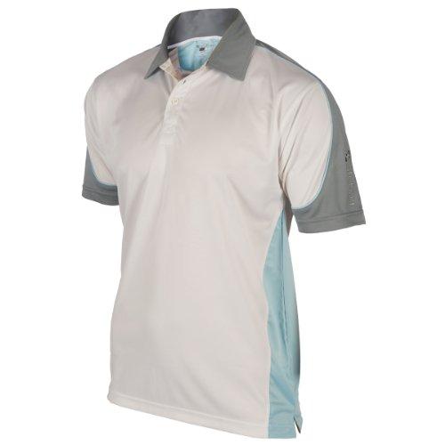 Stuburt T-Shirt Sport Panel Performance TS, atmungsaktiver Stoff White/Glacier/Mercury Junior Large