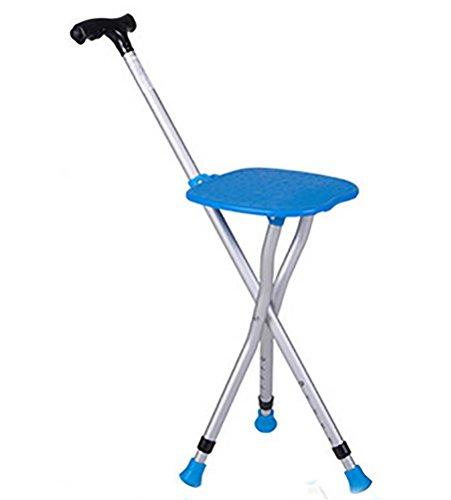 Yao Verstelbare opvouwbare stoel, stoel, stoel, massage-doorlopende stok met zit-beweegbare vissenemel met ledlicht