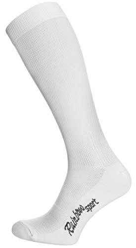 Rainbow Socks - Hombre Mujer Calcetines Largos de Deporte - 1 Par - Blanco - Talla UE 36-38