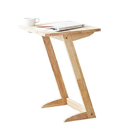 Especial /Simple Mesa de centro, mesa lateral de las mesas, mesa en forma de Z, mesa de extremo natural, mesa de madera, mesita de noche, escritorio de libros, mesa de café para computadora portátil C
