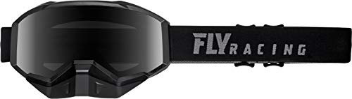 Fly Racing Adult 2019 Focus Snow Goggle Snowmobile Black w/Smoke Lens