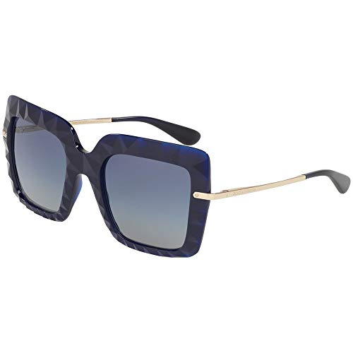 Ray-Ban 0DG6111 Occhiali da Sole, Marrone (Opal Blue), 51.0 Donna