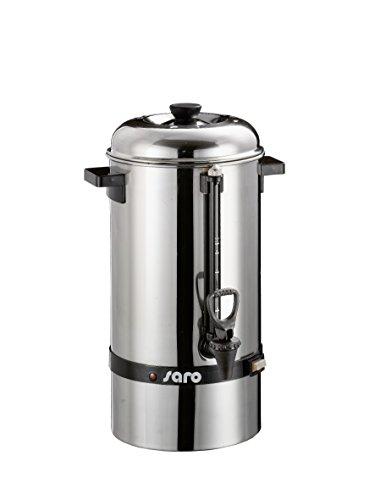 Saro Gastro Kaffeemaschine mit Rundfilter Modell Saromica 6005 Industriekaffeemaschine (6,75 Liter, 40 Tassen Kaffee, Brüh-& Warmhaltefunktion), Silber