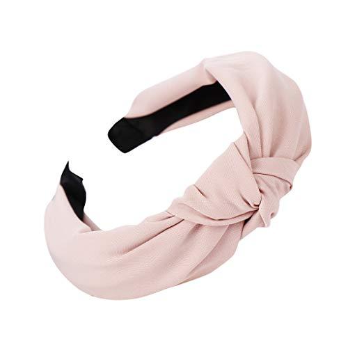 Yvelands Damen Mode Stirnbänder Breit Haarbänder Bogen Knoten Haarband Frauen Haar Kopfband Einfache Süße Mädchen Haar Stirnband Haarschmuck (28, 1PC)