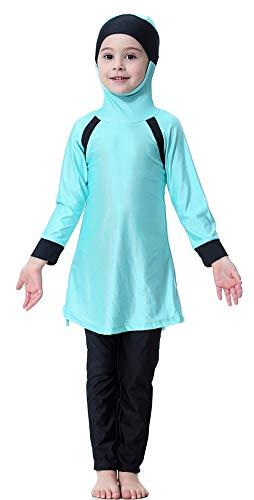 TianMai Mädchen Kinder Muslimische Bademode Islamische Schwimmanzug Badeanzug Burkini Muslim Swimwear (N1, 120cm)