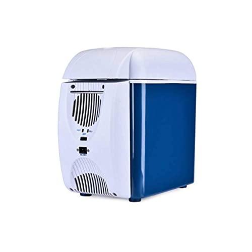 Mini refrigerador pequeño para el hogar, Mini refrigerador 7.5L Refrigerador de automóvil Refrigeración Compresor Congelador 12v24v Coche Hogar Refrigerado de Doble propósito Congelado Coche pequeño