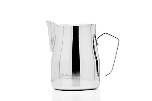 Dritan Alsela Professionale Bricchetto per Latte, Antiaderente, lattiera in Acciaio Inox 750ml