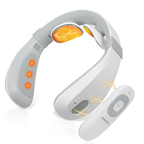 Neck Massager with Heat,Electric Pulse Neck Massager for Pain Relief,Portable Neck Massager,Pulse...