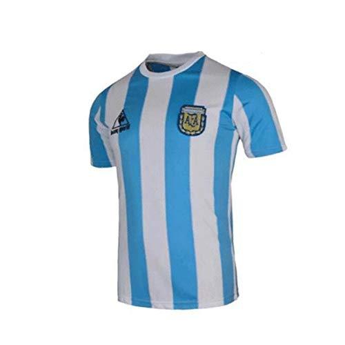 ZYANUGR Retro 1986 Argentina Uniforme de fútbol, Argentina 10 Hombres Camiseta de fútbol Retro de fútbol Camiseta de 1986, Kits de Camisetas de fútbol para Adultos, Maradonas 10 (XL)