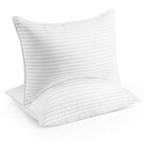 Beckham Hotel Collection Gel Pillow (2-Pack) - Luxury Plush Gel Pillow - Dust Mite Resistant &...