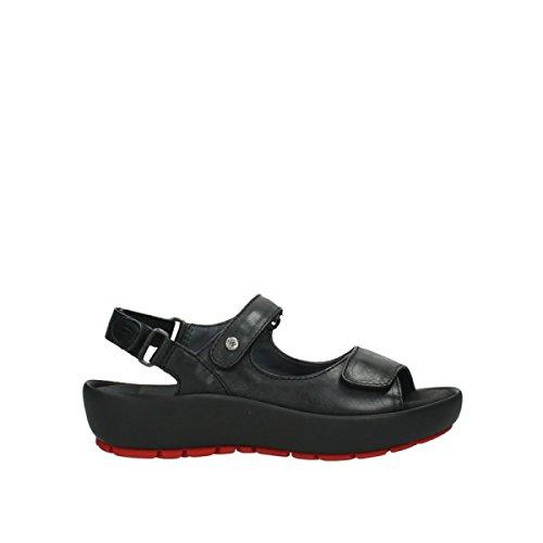 Wolky Comfort Sandalen Rio - 20000 schwarz Leder - 42
