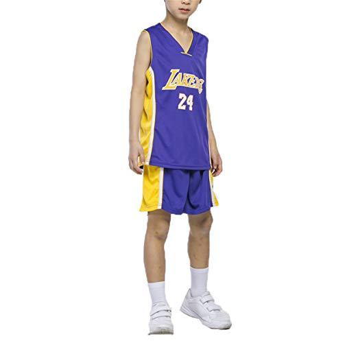 LIZTX Camiseta De Baloncesto Infantil Lakers # 23 Lebron James 24# Camisetas De Kobe Bryant Hombres Y Mujeres Baloncesto Conjunto De Traje De Entrenamiento para Niños Ropa De Rendimiento