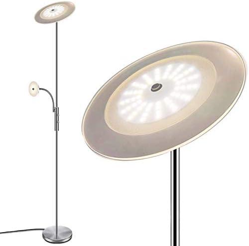 LED New York Mall Floor Max 62% OFF Lamp - Modern Saving 18W+5W Dim Standing Energy