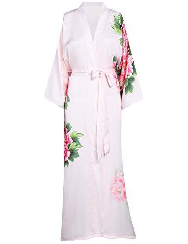 ArtiDeco dames ochtendjas Maxi lange kimono strandjurk bloemen bedrukt gebreide jas kimono badjas dames lange robe bloemen slaapjas meisje pajama party