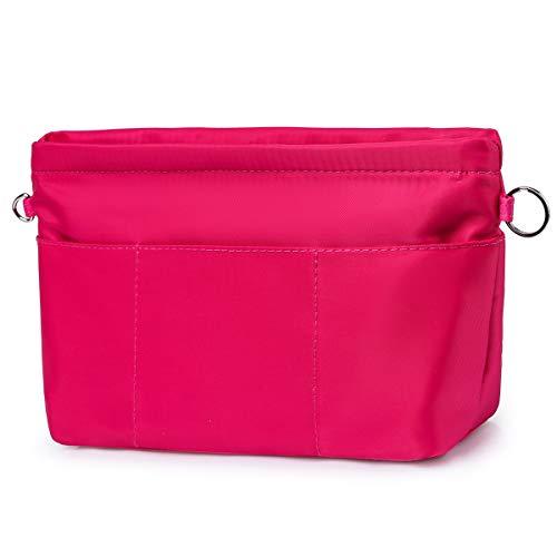 Joqixon Handtaschen Organizer mit Reißverschluss, Leicht Taschenorganizer für Damen Shopper, Nylon Handtasche Innentasche in Bag