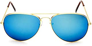 Fashion Aviator Sunglasses Flash Mirror Lens Uv400 for men