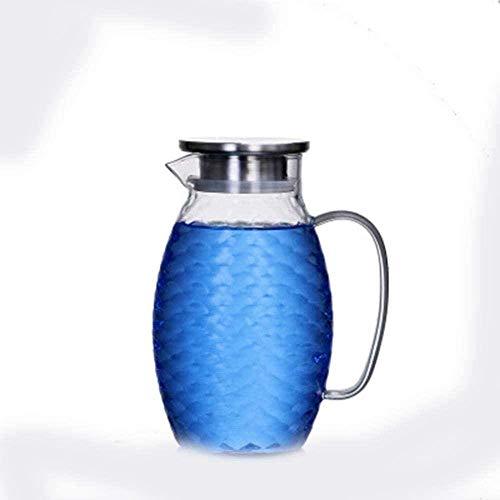 Tetera Jarra de vidrio Hervidor de agua grande con tapa y caño tetera de hielo Agua caliente Tanque de agua fría Botella de jugo de 1,5 l resistente al calor