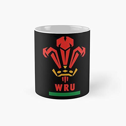 Taza clásica de rugby de Wales | Mejor regalo divertido tazas de café 11 oz