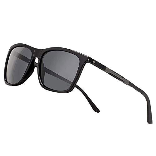 Polarisierte Sonnenbrille Herren Damen Luxus Retro Sonnenbrille Männlich/Sport im Freien Golf Radfahren Angeln Wandern Eyewear Sonnenbrille (b4lack)