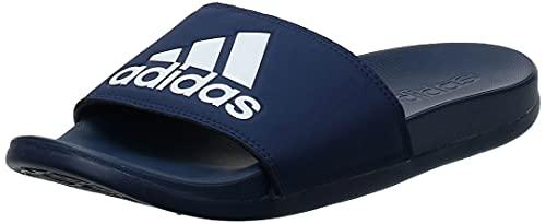 Adidas Adilette Comfort, Scarpe da Spiaggia e Piscina Uomo, Blu (Azuosc/Ftwbla/Azuosc 000), 39 1/3 EU