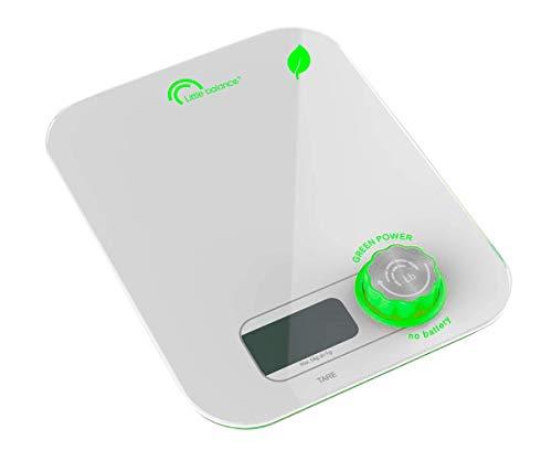 LITTLE BALANCE - Balance de cuisine sans piles -  Ecologique grâce à son bouton Little Balance - 5 kg / 1 g