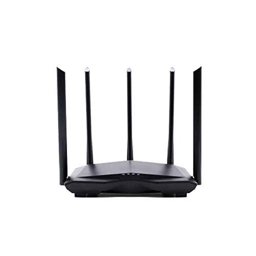 Routers WiFi Doble Banda 1200M Velocidad Gigabit WPA3 Seguridad Cifrado Routersde Doble Banda Quad Stream Gigabit, Geofiltrado, Qos,con 5 Piezas Antena Potente