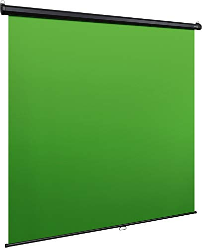 Elgato Green Screen MT - Panel Chromakey colgable, Bloqueo y replegado automáticos, Tejido Resistente Antiarrugas, Montaje en pared/techo (190 x 200 cm)