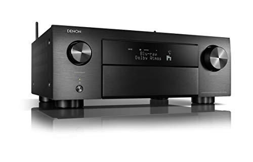 Denon AVC-X4700H 9.2-Kanal AV-Verstärker, Hifi Verstärker, Alexa kompatibel, 8 HDMI Eingänge und 3 Ausgänge, 8K-Video, Bluetooth, WLAN, Musikstreaming, Dolby Atmos, Auro-3D, AirPlay 2, HEOS Multiroom