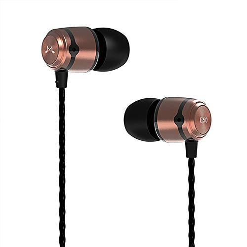 SoundMAGIC E50 Auriculares In Ear, Auriculares para teléfonos Inteligentes con Cable,Auriculares Estéreo con Aislamiento de Ruido para, Todos los Dispositivo de Interfaz de 3,5mm,Dorado