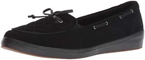 Grasshoppers Women's Windham Diamond Corduroy Boat Shoe, Black, 5 N US