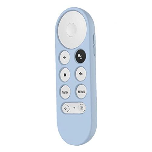 RRunzfon Silikon Remote Case Kompatibel mit Google TV CHROMECAST 2020 Voice Remote Blue Glow, Tasche und Shell