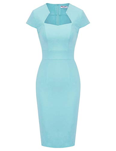GRACE KARIN etuikleid Knielang bleistiftkleid Pencil Kleid 50s Vintage Retro Kleid M CL8947-12