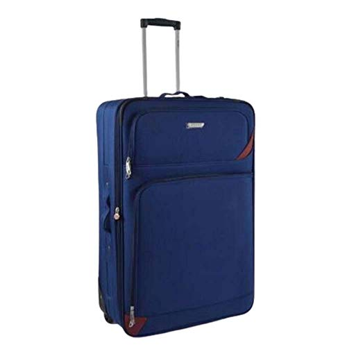 Super Lightweight Durable Hold Travel Luggage Trolley Suitcase (Blue, 29)