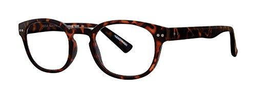 Scojo New York Gels Courier BluLite Reading Glasses, Tortoise, 3.00 Magnification